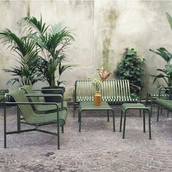 Hay Palissade lounge tuinstoel met lage rugleuning
