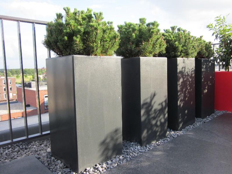 Polyester plantenbak 120x120x100cm